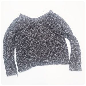 Free People gray chunky knit cotton sweater small